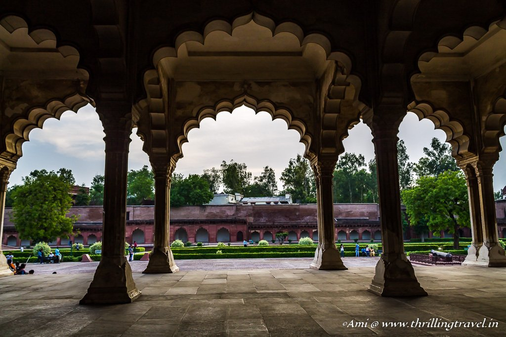 An emperor's perspective of Diwan-i-Aam, Agra Fort