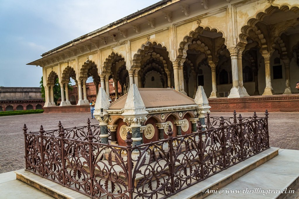 Grave of John Russel Colvin at Agra Fort