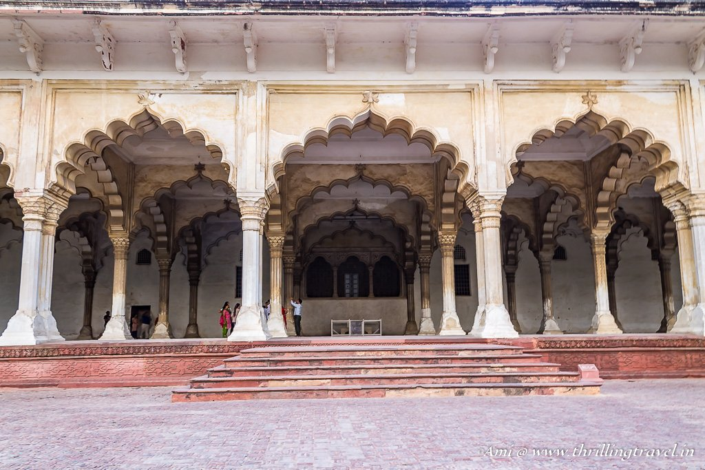A common man's perspective of the Diwan-i-Aam, Agra Fort