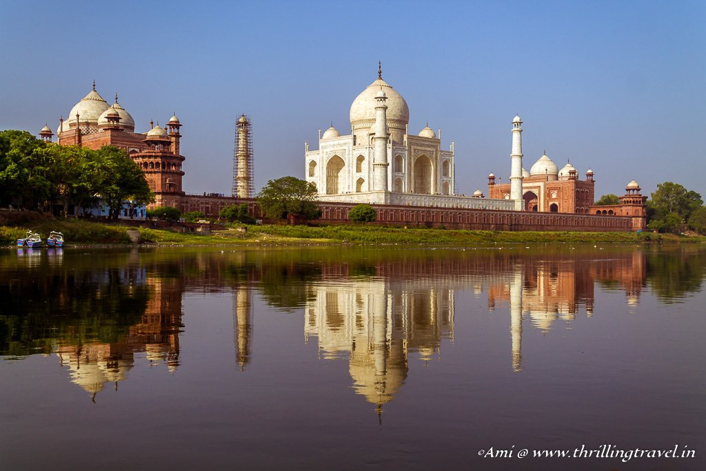 Taj Mahal from the Yamuna River
