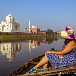 An intimate moment with just the Taj and me along the River Yamuna