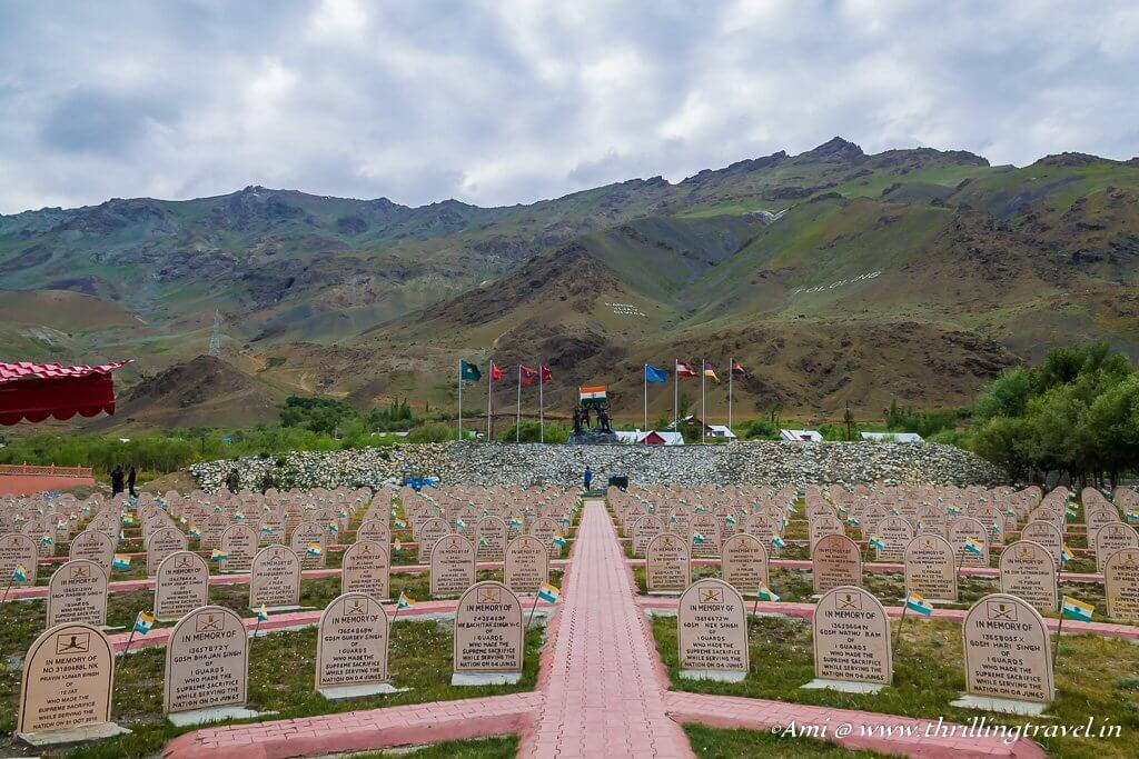 Kargil War Memorial with the Epitaphs