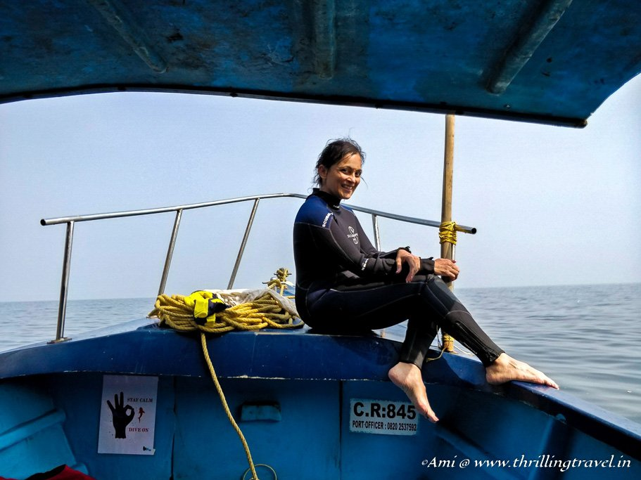 Me after my PADI Certification at Netrani Island - a year later from my first scuba dive at Havelock