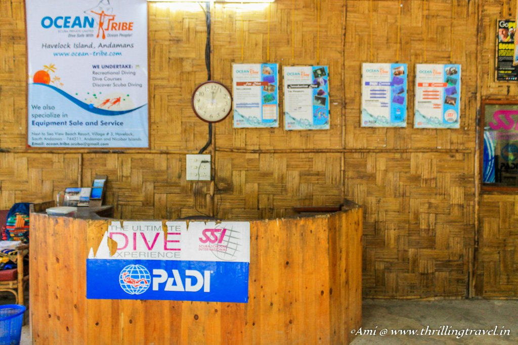 Ocean Tribe Dive Shop at Havelock Islands, Andamans