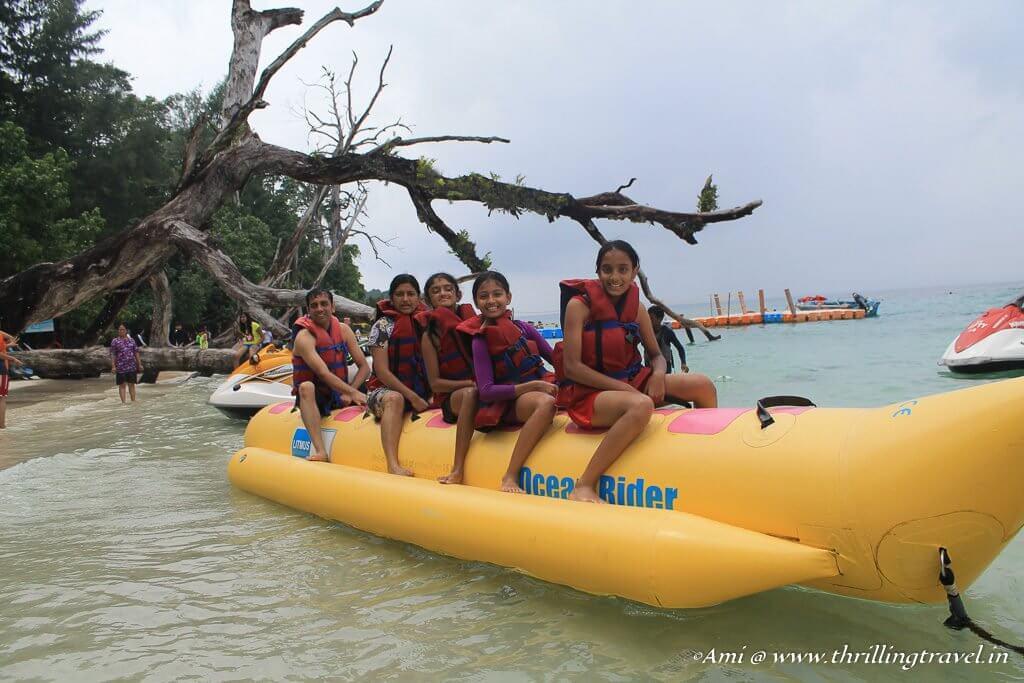 Banana Boat Rides at Elephant Beach, Havelock Island