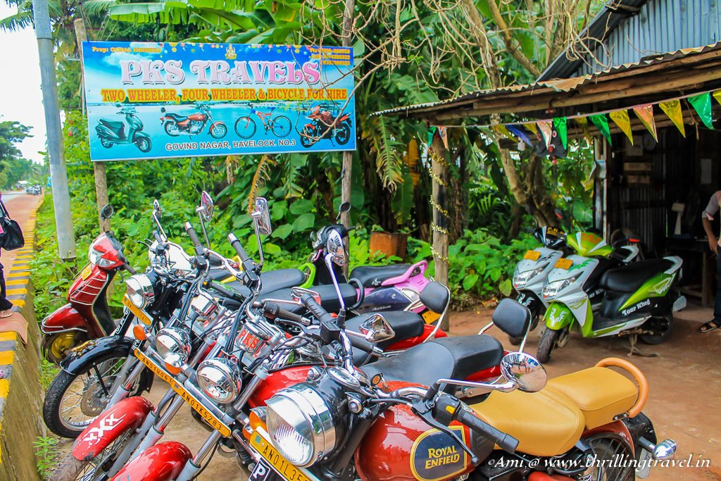 Bikes for hire at Havelock Island