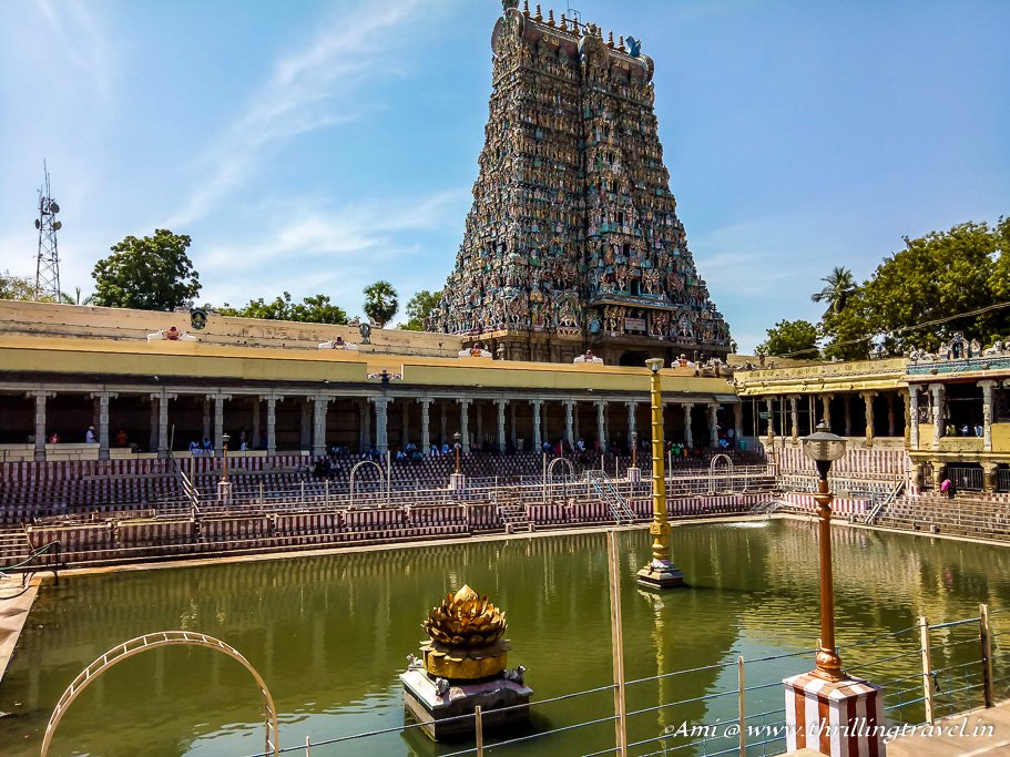 Golden Lotus Pond at Meenakshi Temple