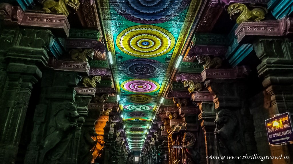 Hallway of Meenakshi Temple in Madurai