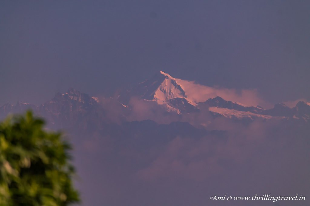 Langtang Ri at the first ray of light in Nagarkot