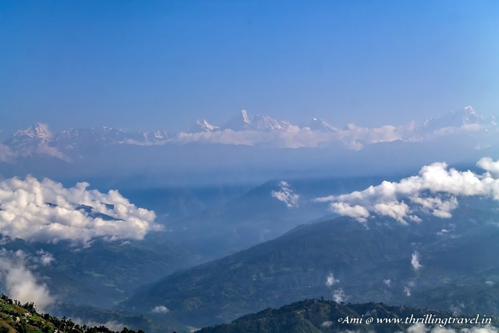 Dorje Lakhpa with the other Himalayan ranges as seen from Nagarkot
