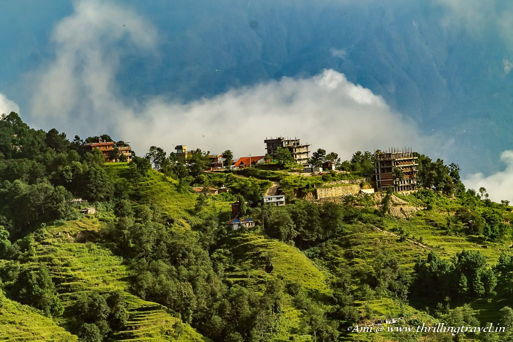 Nagarkot village as seen from our hotel balcony