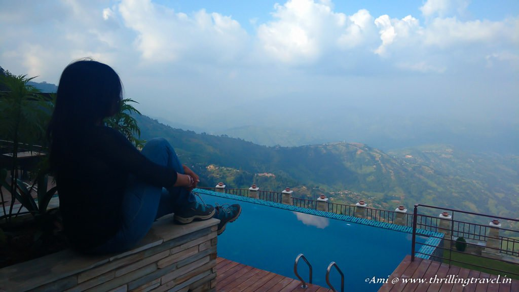 Doing nothing at Nagarkot Mystic Mountain Resort