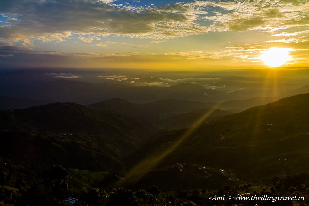 First ray of light at Nagarkot