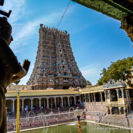 View from Kilikoondu Mandapam of Meenakshi temple