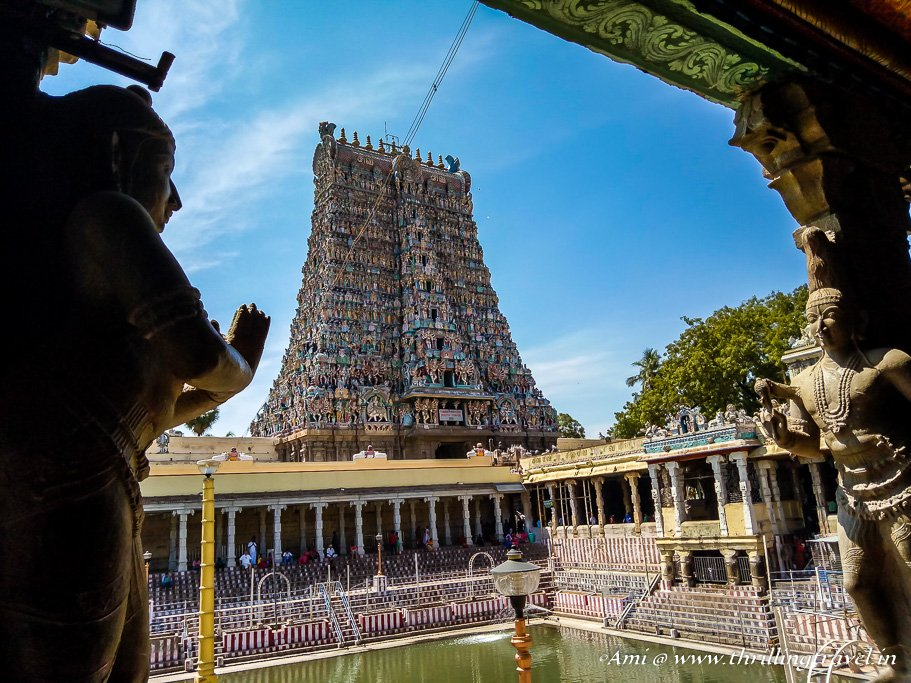View from Kilikoondu Mandapam of Meenakshi temple