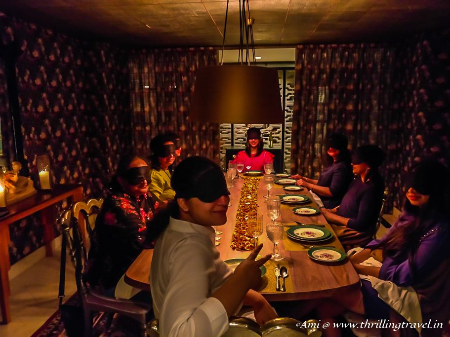Blindfold Dinner experience at Narendra Bhawan