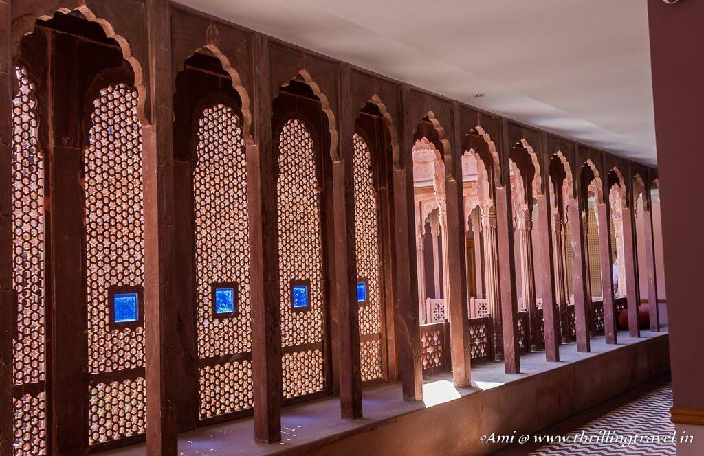 Jhali styled Corridors at Narendra Bhawan