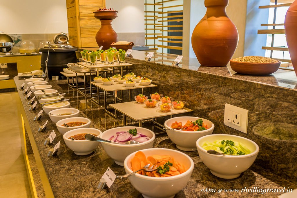 Part of the Lunch Spread at Sterling Holidays Wayanad