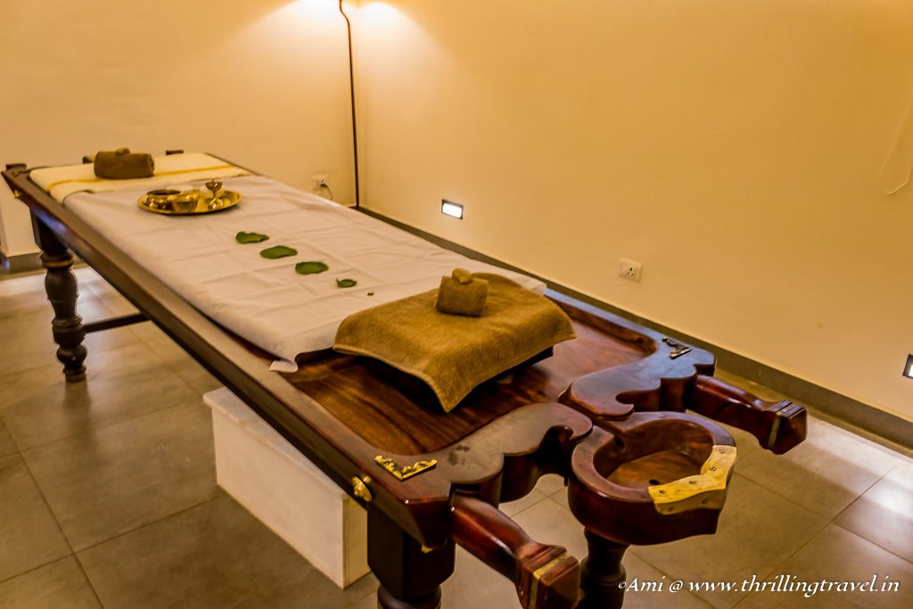Spa Time during my stay at RCI affiliated Sterling Holidays Wayanad