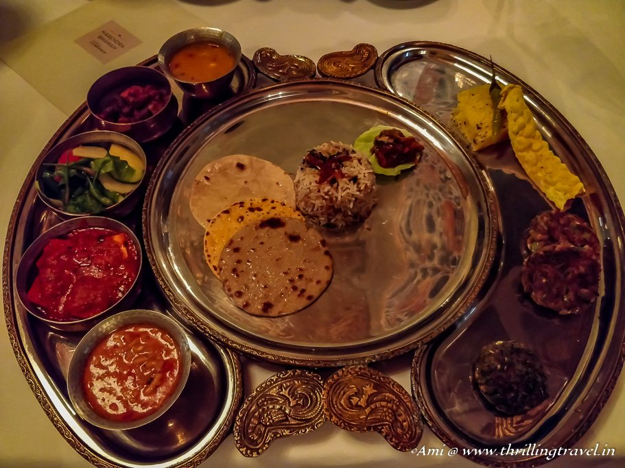 Traditional Rajasthani Royal meal by Narendra Bhawan