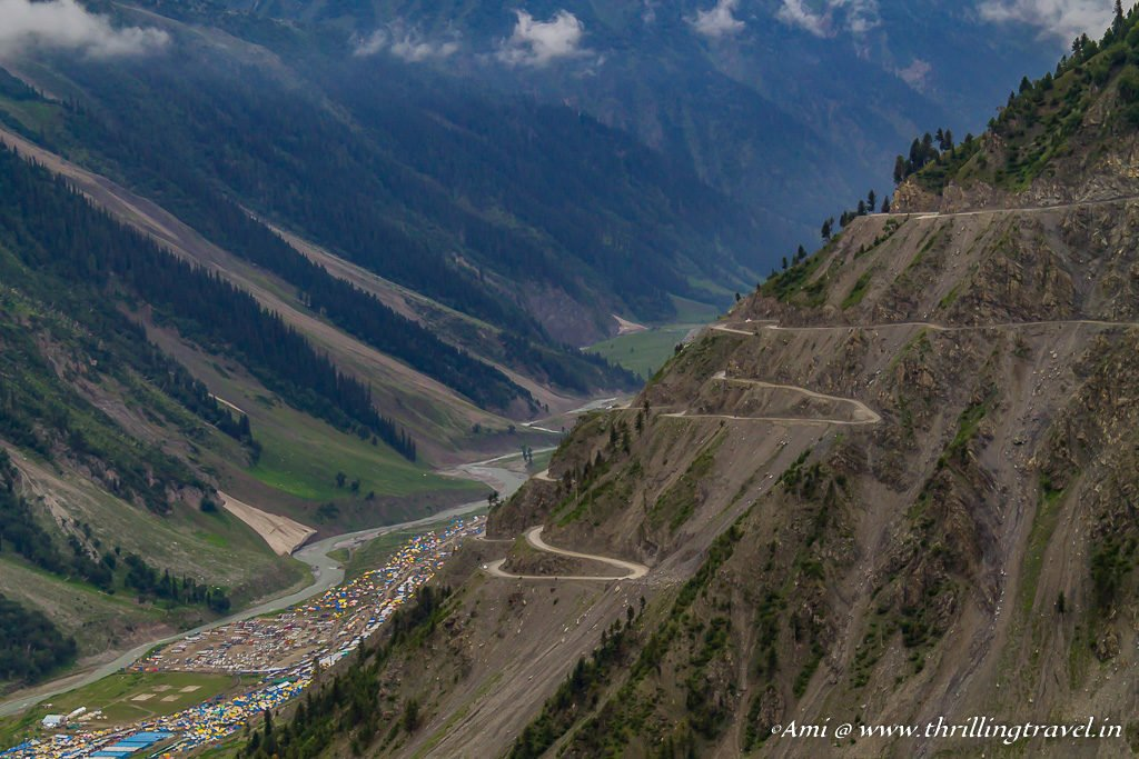 Ladakh Travel Guide to getting to Leh - Crossing the Zozila Pass before it is shut down for the day