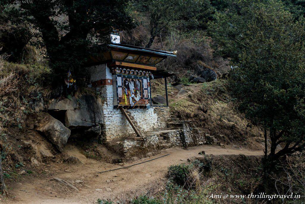 Along the Paro Taktsang Hiking Trail