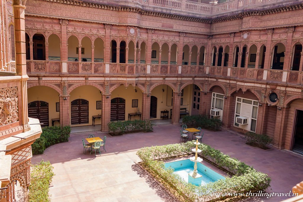 Central Courtyard inside Bhawar Niwas - one of the erstwhile Rampuria Havelis