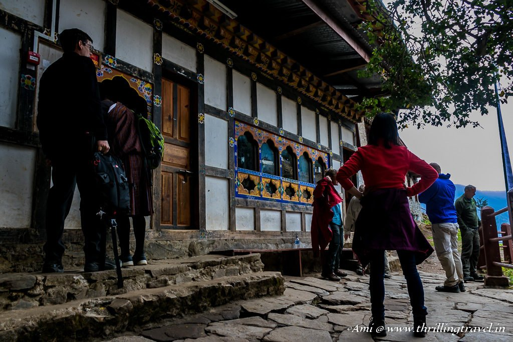 Check point at Tiger's Nest Monastery where you need to deposit your belongings