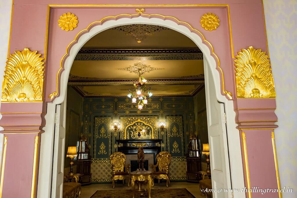 Drawing room of Bhawar Niwas