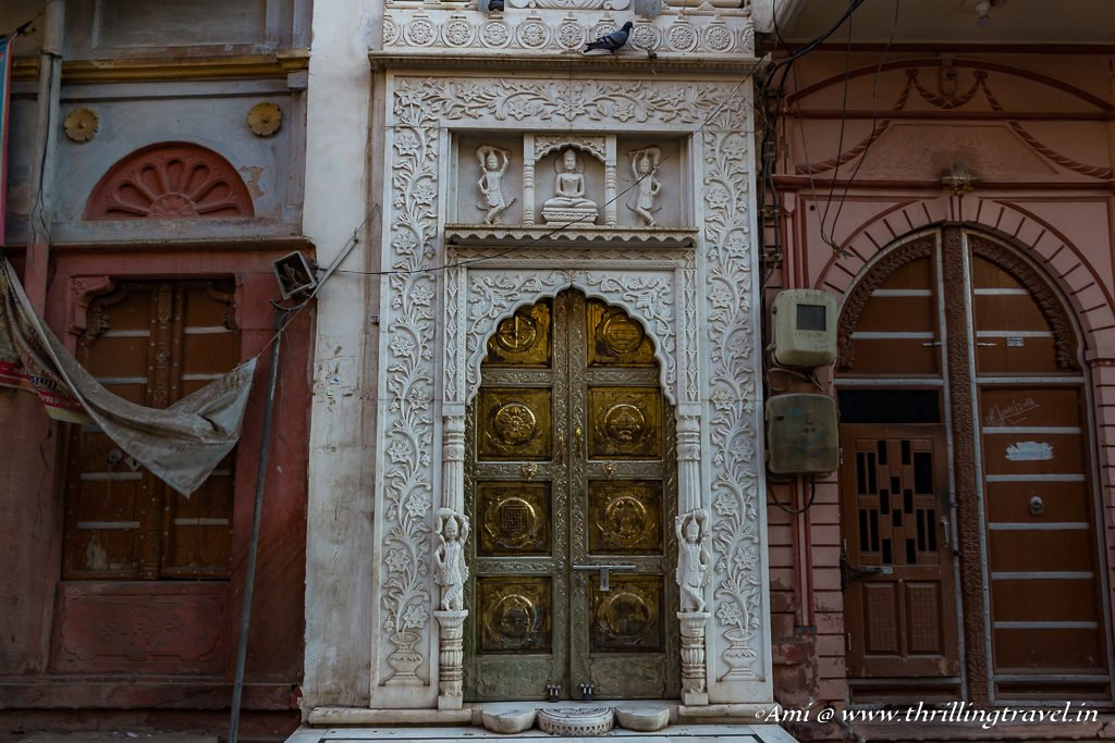 Carved Door frame of a Jain Temple along the Merchant Trail of Bikaner