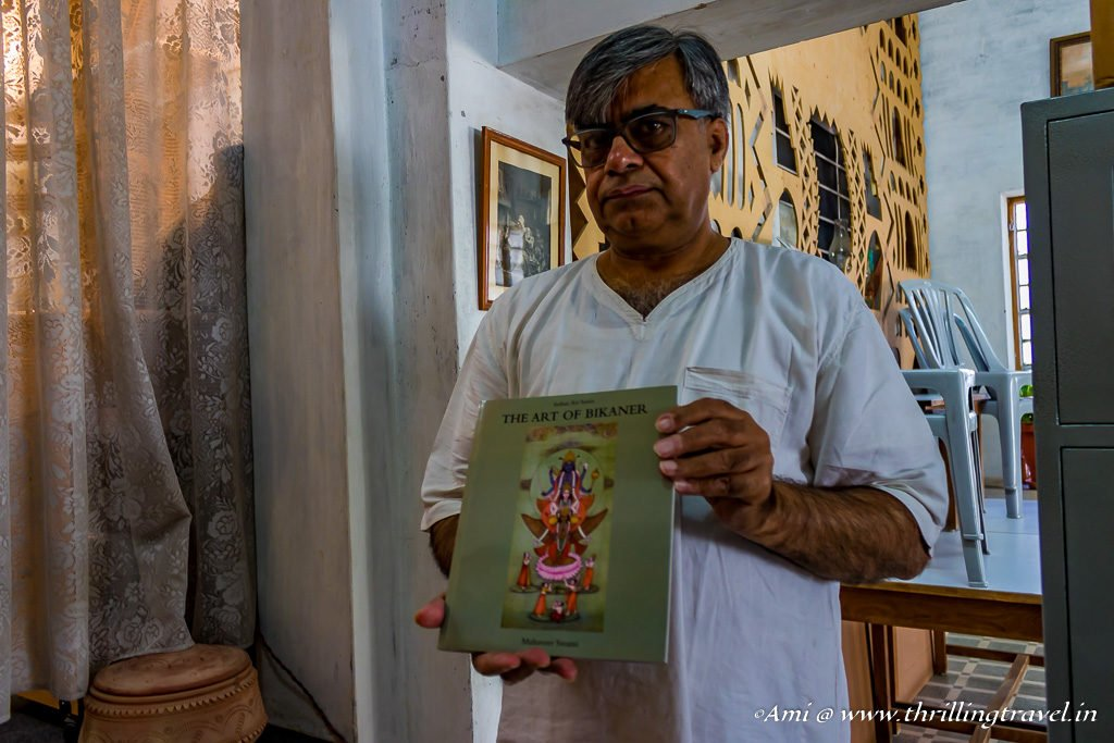 Mahaveer Swami - one of the few artists of Bikaner Miniature Art