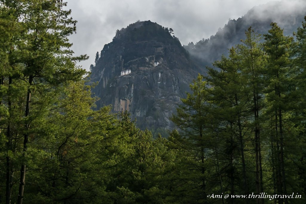 Paro Taktsang Monastery as seen from the base