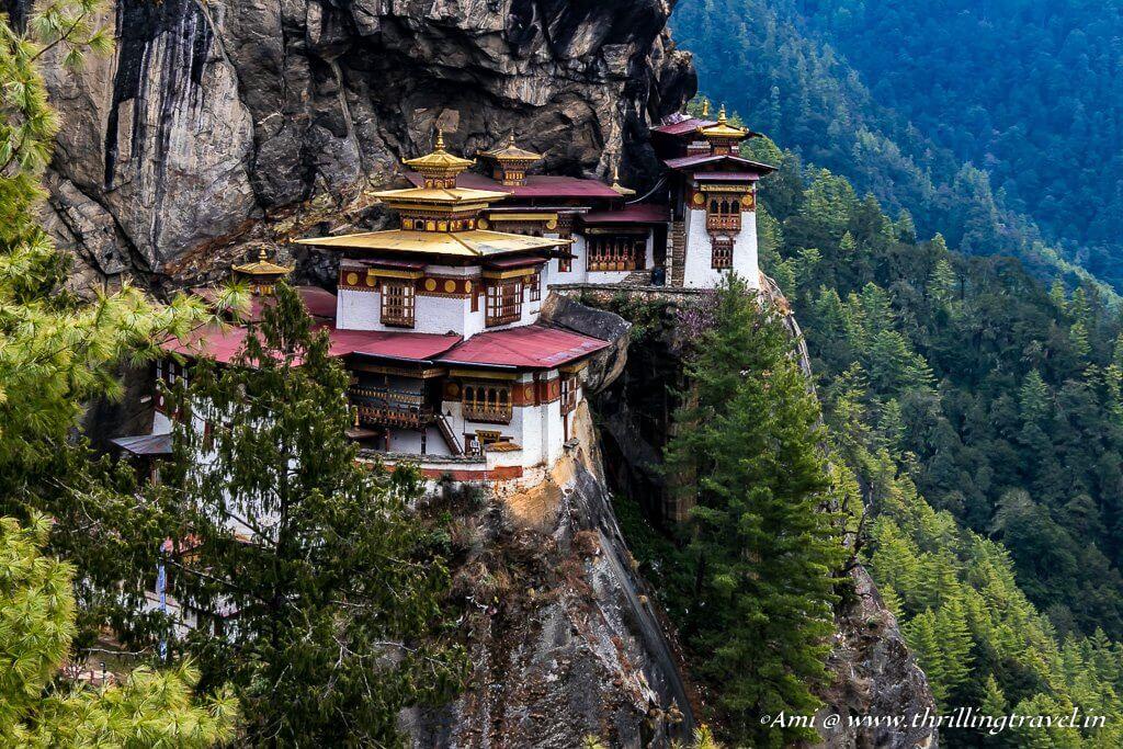 Paro Taktsang or the Tiger's Nest Monastery in Bhutan