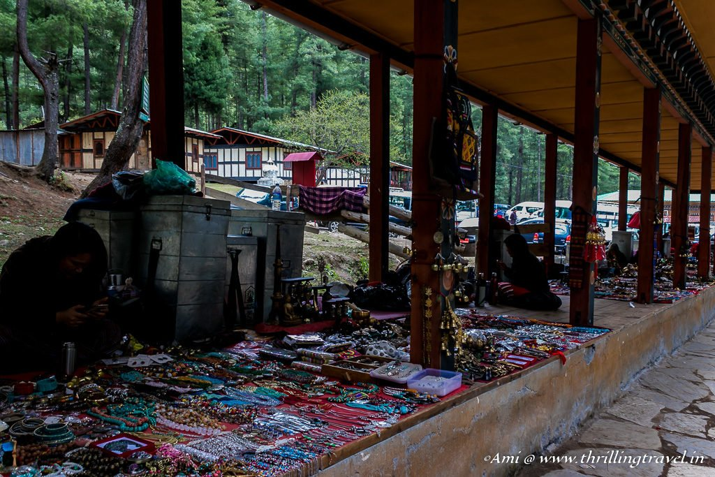 Shopping at the Base of Paro Taktsang