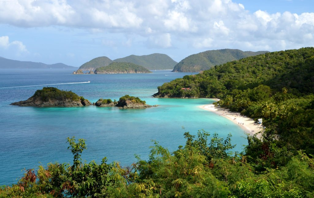 Trunk Bay at US Virgin Islands