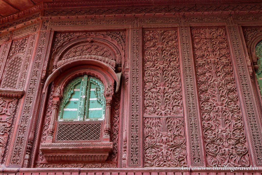 Aesthetic Window of Rampuria Haveli, Bikaner