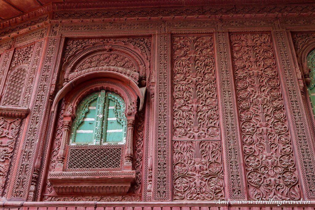 Aesthetic Window of Rampuria Haveli, Bikaner
