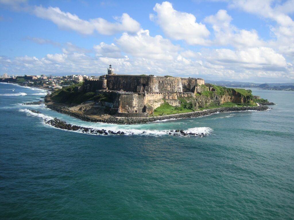 El Morro Fort in Puerto Rico, Caribbean