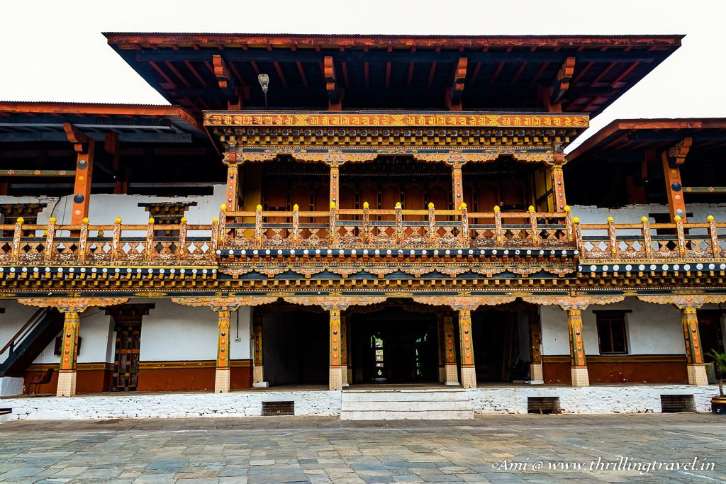 One section of the administrative section of Punakha Dzong