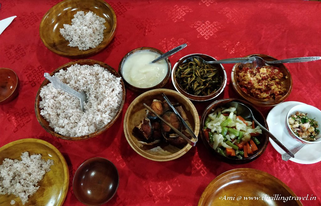 Bhutan travel guide to Food