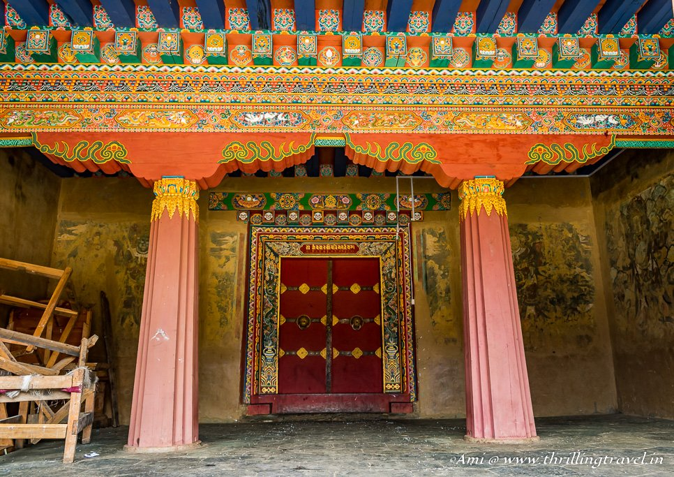 Doors of Gangtey Monastery, Phobjikha Valley