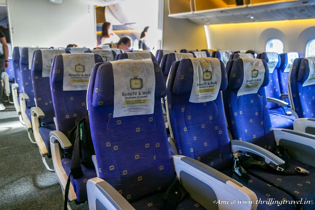 The Economy section of the Flyscoot Dreamliner