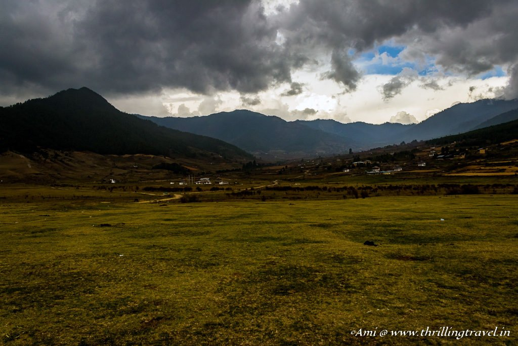 Overcast skies in Phobjikha Valley