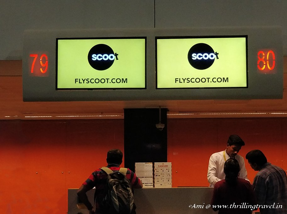 Check-in with Flyscoot at the Bengaluru Airport