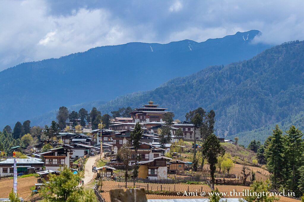 Phobjikha Valley with Gangtey Monastery