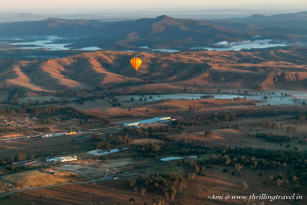 Gold Coast Hinterland on a Hot Air Balloon