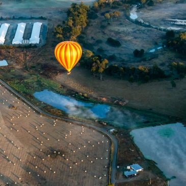 Over the Gold Coast Hinterland in a Hot Air Balloon