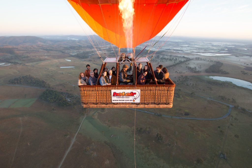 Can you spot me in this Hot Air Balloon?