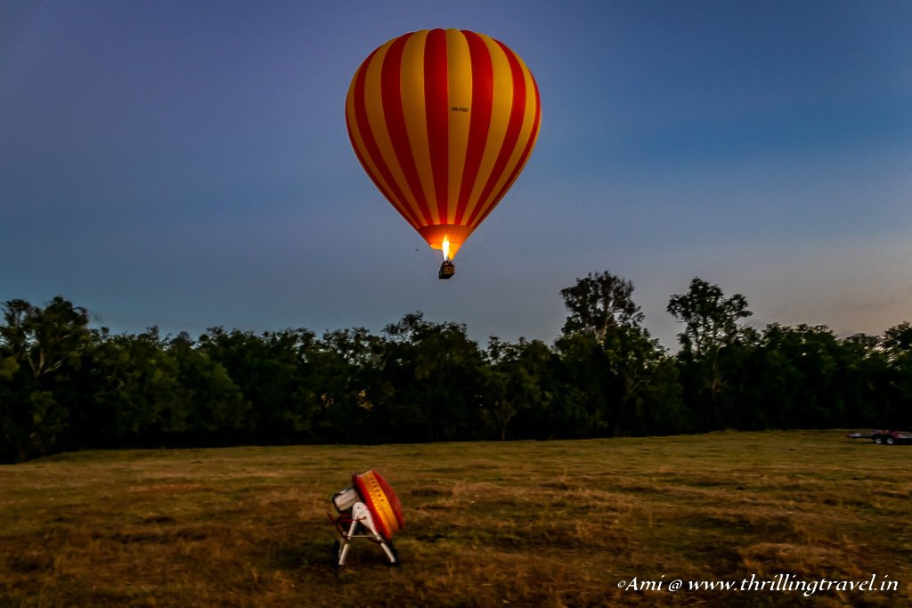 It is all about going with the Wind on a Hot Air Balloon