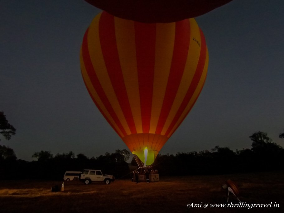 Launch Site of the Gold Coast Hot Air Balloon
